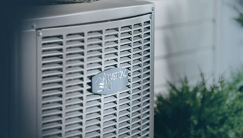 Armstrong air conditioner outside close up